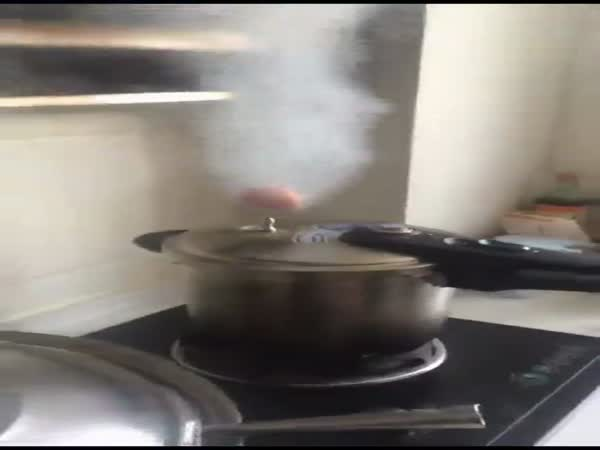 Egg Floats On Steam Out of Pressure Cooker