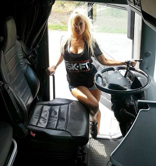 This Swedish Girl Is The Most Beautiful Female Truck Driver (6 pics)