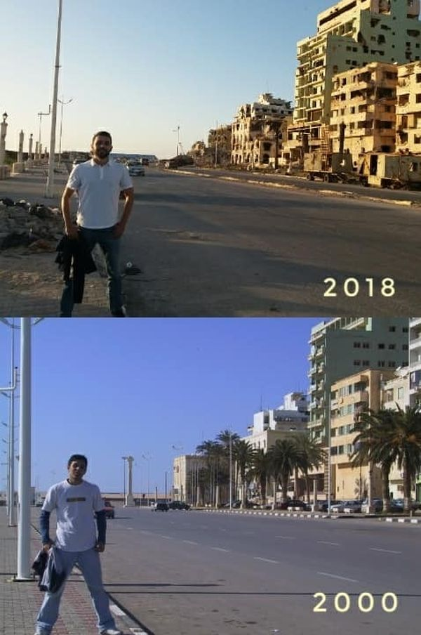 Benghazi, Syria in 2000 And 2018 (4 pics)