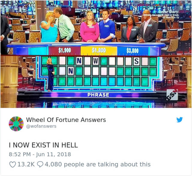"""The Only Correct Answers To """"Wheel Of Fortune"""" (38 pics)"""