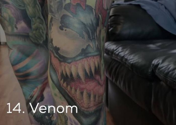 This Guy Got A Guinness Record For The Most Marvel Tattoos (35 pics)
