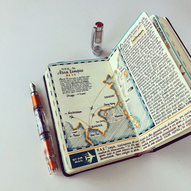 This Artist Keeps the Most Beautiful Sketchbooks I Have Ever Seen (15 pics)