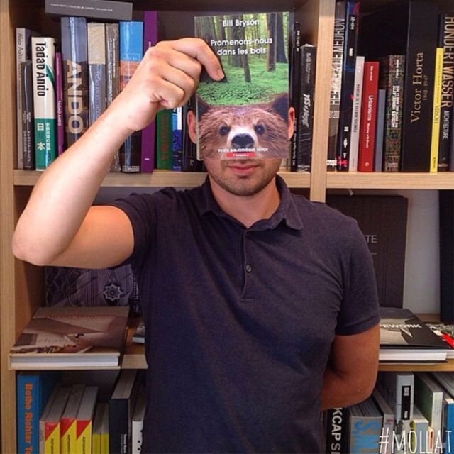 Bookstore Customers Strategically Posing With Seamlessly Matching Book Covers (19 pics)