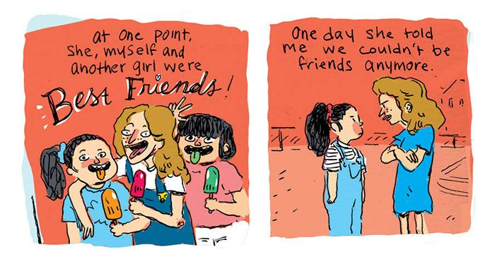 Artist Searches For Her Childhood Bully On Facebook, Doesn't Expect To Find This (24 pics)