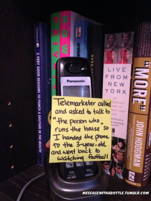 Funny Post-It Notes From A Stay-at-home Dad (38 pics)
