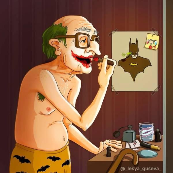 Old Superheroes (15 pics)