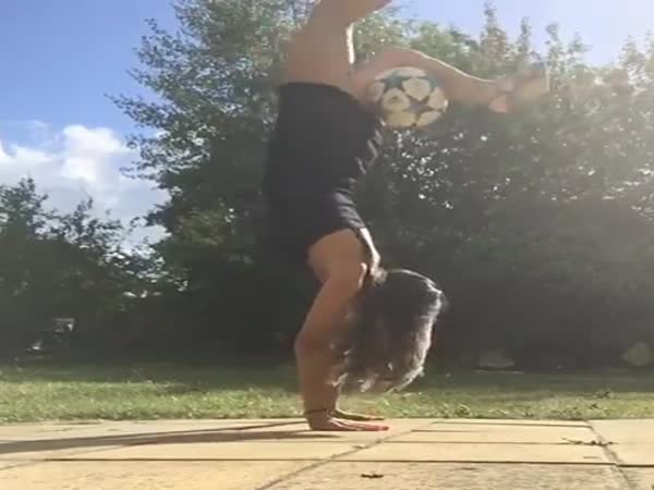 Amazing Girl With Ball Control