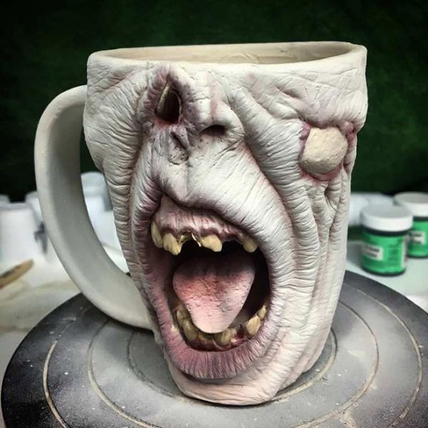 Very Scary Zombie Head Coffee Mugs (15 pics)