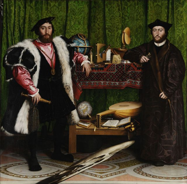 Hidden Illusion In The Ambassadors Painting By Hans Holbein the Younger, 1533 (4 pics)