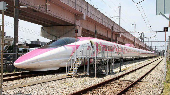 Hello Kitty Train In Japan (5 pics)