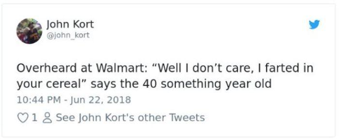 Crazy Conversations At Walmart (36 pics)