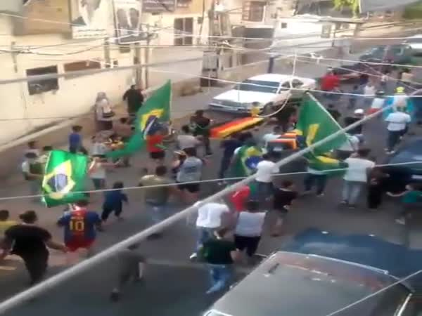 Brazilians Celebrating Germany Funeral After Koreans Victory