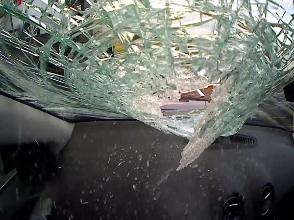 Caught On Camera - Windscreen Smashed