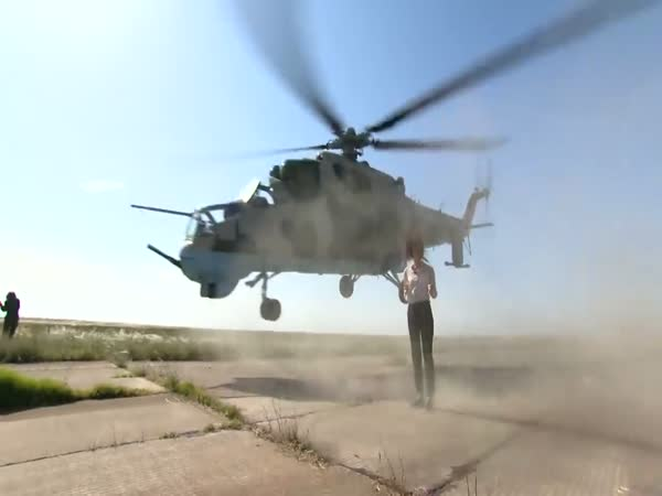 Reporter Has Near Miss With Army Helicopter Whist Stood On Runway