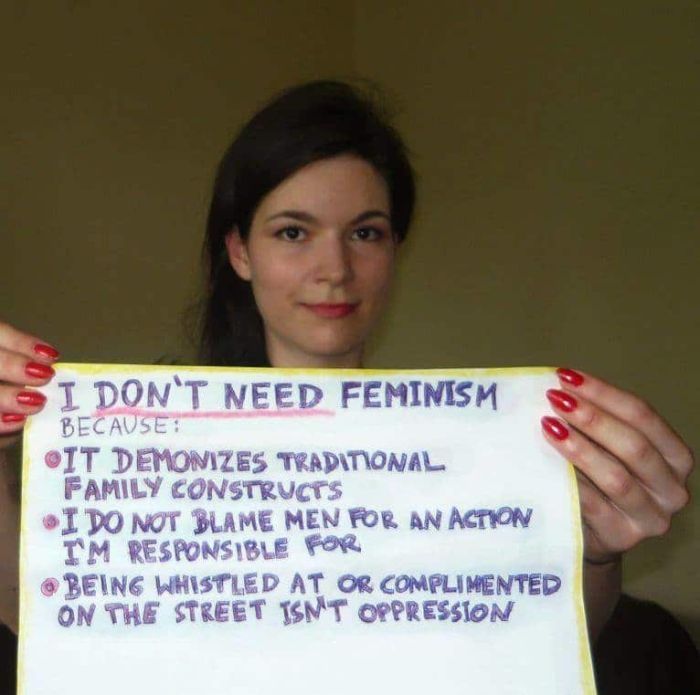 Women Explain Why They Hate 'Modern' Feminism (28 pics)