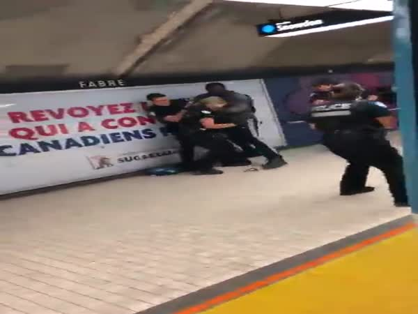 Police Try To Take Down One Large Man