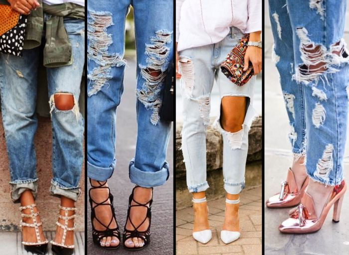 How To Make Ripped Jeans (4 pics)