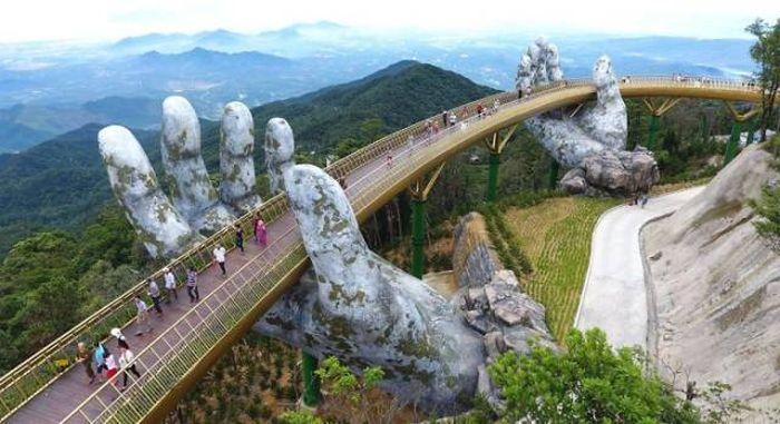 Bridge On Two Giant Palms In Vietnam (15 pics)