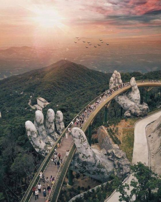 Bridge On Two Giant Palms In Vietnam (15 pics)
