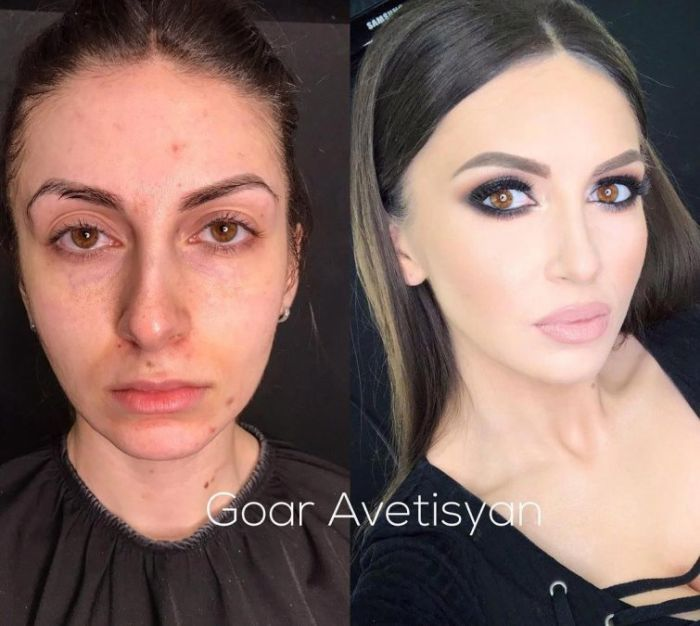 With And Without Makeup (25 pics)