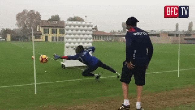 Goalkeeper Training (3 gifs)