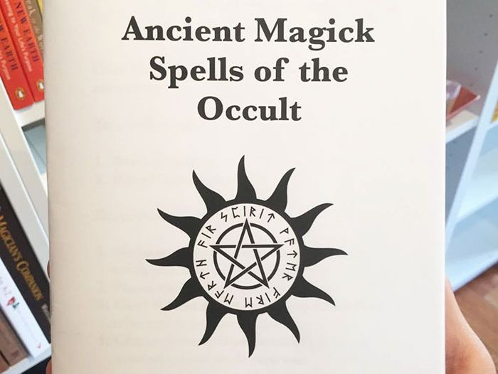 This Guy Left A Fake Book Of Spells In An Occult Shop And It's Hilarious (10 pics)