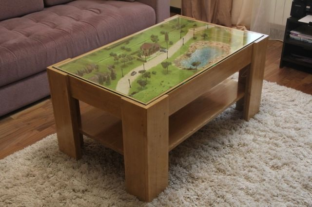 DYI Awesome Coffee Table (17 pics)
