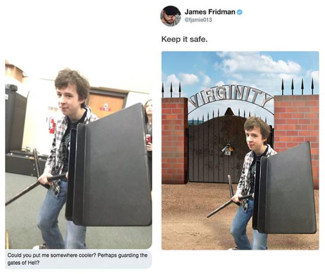 Photoshop Troll James Fridman Hits Again (16 pics)