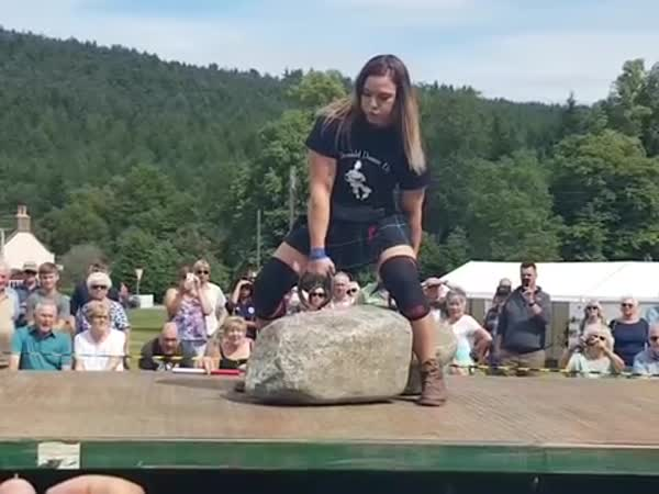 The Second Woman To Ever Lift Scotland's Famous 'Dinnie Stones'