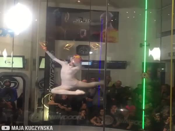 Freestyle Dancing In Wind Tunnel