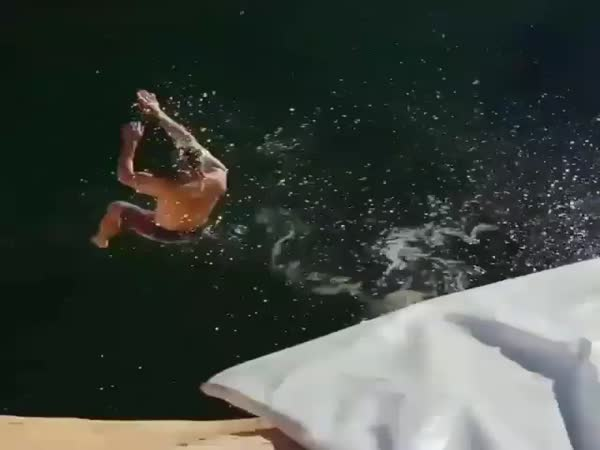 Water Slide With A Huge Jump