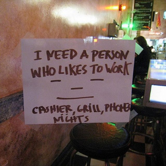 Help Wanted' Signs (34 pics)