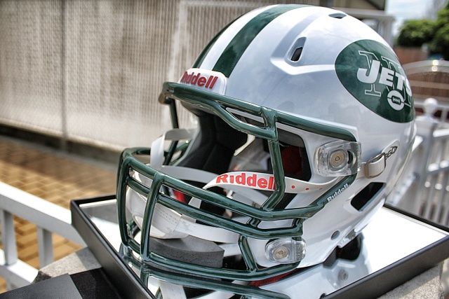 NY Jets' New Riddell 360 Helmet (3 pics)