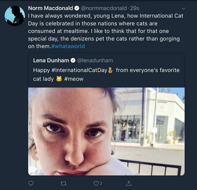 Norm Macdonald Spent His Weekend Correcting Lena Dunham (11 pics)