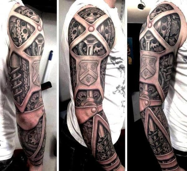 Steampunk Tattoos (38 pics)