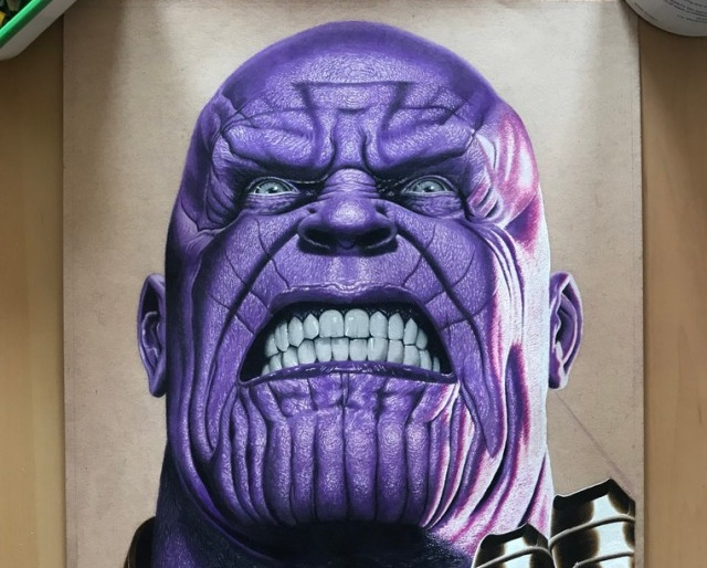 Painted Thanos of the Avengers (3 pics)