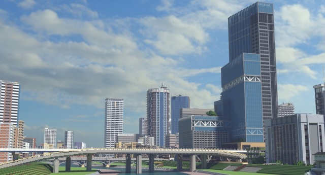Gamer From Japan Builds A City In Minecraft (4 pics)