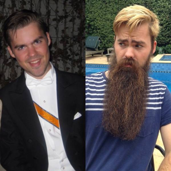Beard Makes A Difference (19 pics)