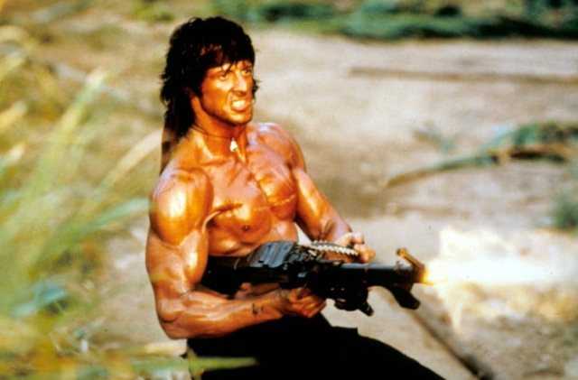 Sylvester Stallone Working Out For 'Rambo 5' (5 pics)