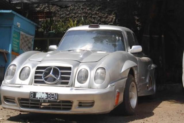 DIY Mercedes-Benz 300SL from W114 (10 pics)