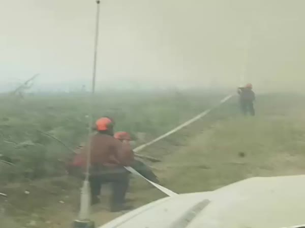 Terrifying 'Fire Tornado' Wreaks Havoc On Firefighters