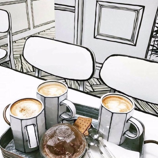 This Is Not A Drawing. This Is A Cafe In South Korea (10 pics)