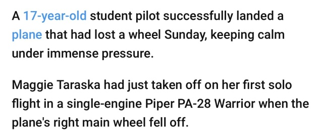Teen Successfully Lands A Plane With Only One Wheel (8 pics)