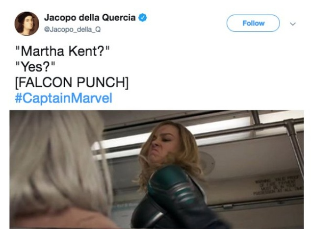 Captain Marvel Punching An Old Lady Meme (15 pics)