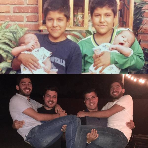 Recreated Childhood Photos (22 pics)