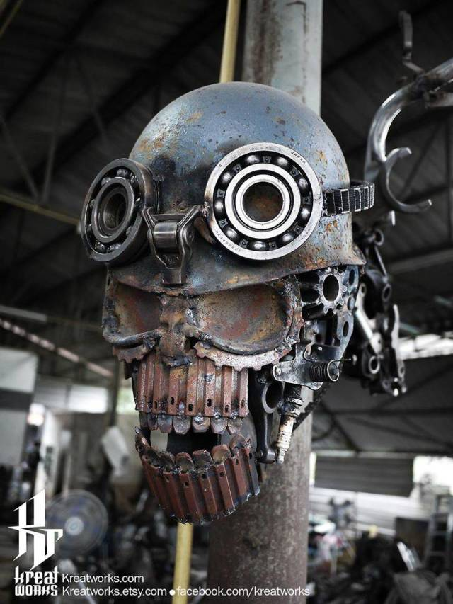 Steampunk Sculptures Made Out Of Scrap Metal (40 pics)