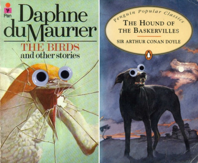 Book Covers Improved With Googly Eyes (15 pics)
