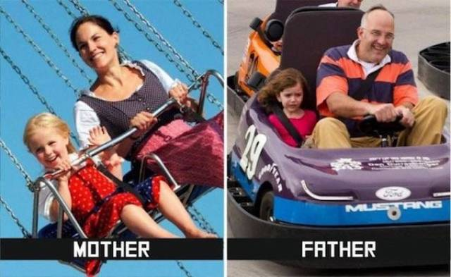 Mom Vs Dad (27 pics)