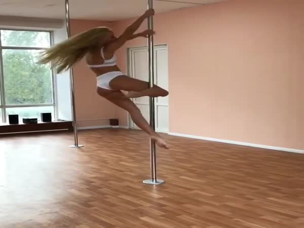 Girl Shows Off Amazing Pole Dancing Skills