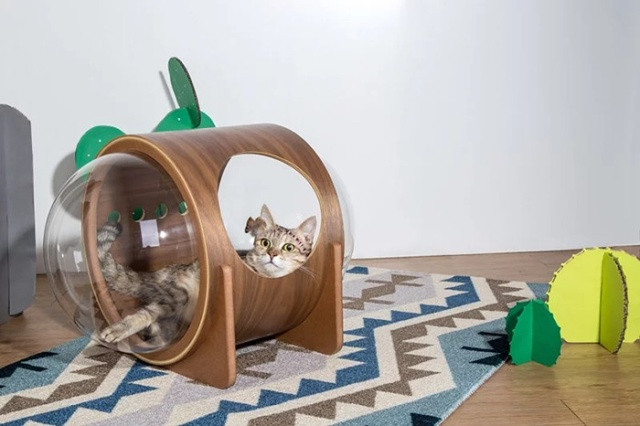 Spaceship-Inspired Cat Beds That Cost $97 (16 pics)